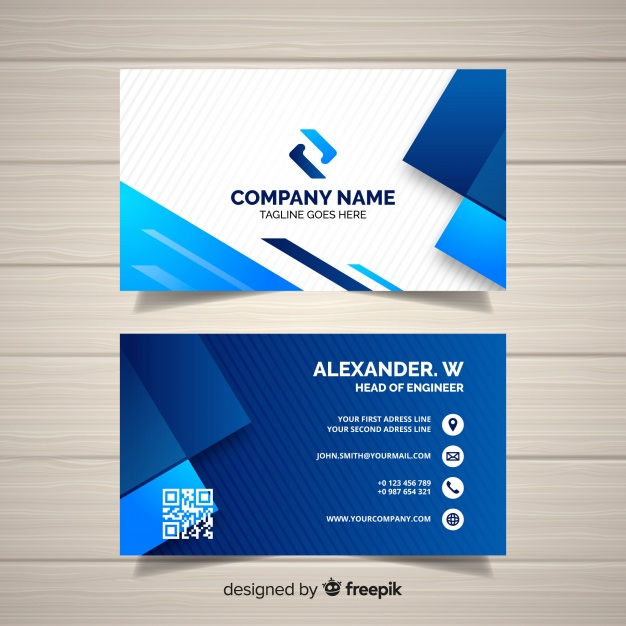 Premium Vector  Business card template with geometric shapes Inside Free Bussiness Card Template For Free Bussiness Card Template