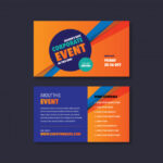 Premium Vector  Corporate event & seminar card invitation design Throughout Seminar Invitation Card Template