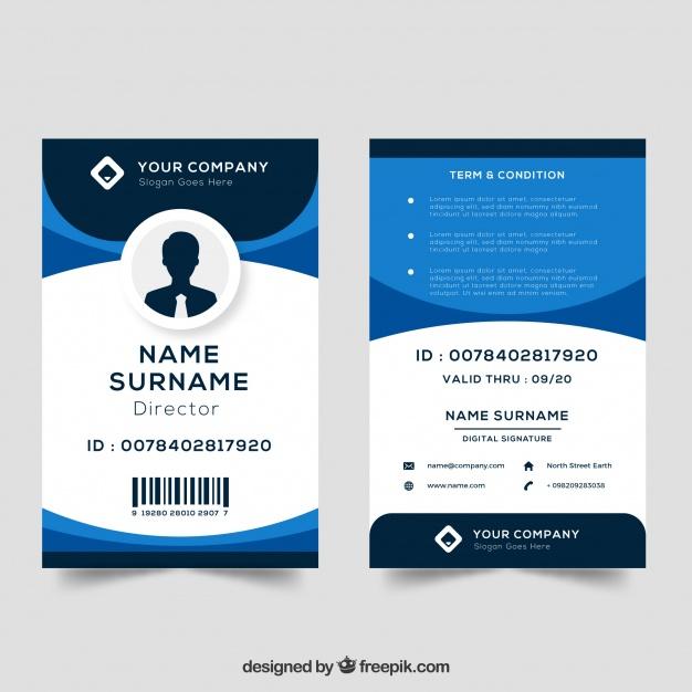 Premium Vector  Id card template Inside Pvc Card Template Within Pvc Card Template