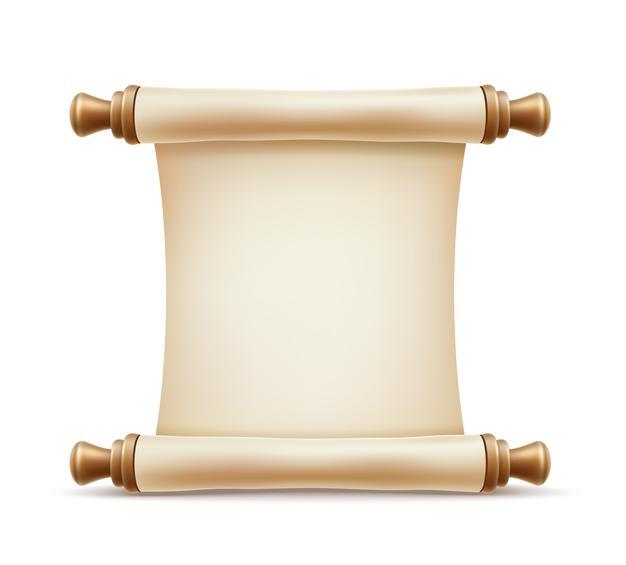 Premium Vector  Realistic paper scroll Inside Certificate Scroll Template