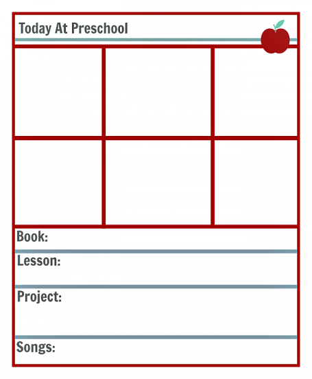 Preschool Lesson Planning Template - Free Printables - No Time For  Inside Blank Preschool Lesson Plan Template Pertaining To Blank Preschool Lesson Plan Template