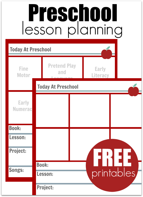 Preschool Lesson Planning Template - Free Printables - No Time For  Throughout Blank Preschool Lesson Plan Template Pertaining To Blank Preschool Lesson Plan Template