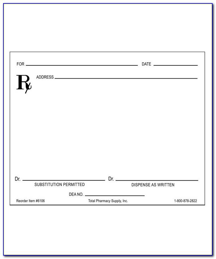 Prescription Pad Template Pdf  vincegray11 In Blank Prescription Pad Template