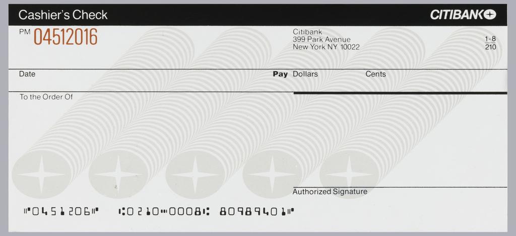 Print, Citibank cashier