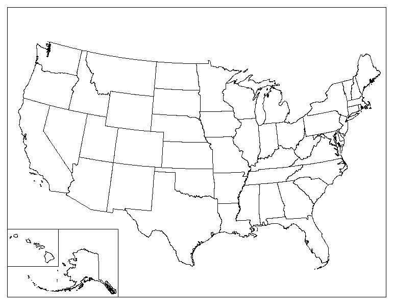 Printable Blank Map of The United States - ePrintableCalendars In United States Map Template Blank