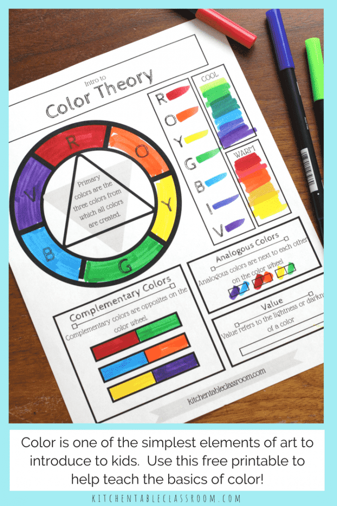 Printable Color Wheel - an Intro to Color Theory for Kids - The  With Blank Color Wheel Template Regarding Blank Color Wheel Template