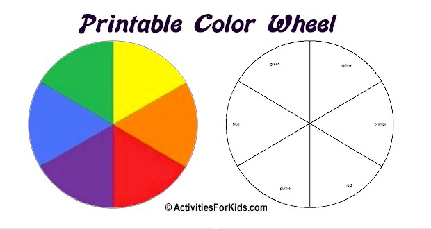 Printable Color Wheel - Primary, Secondary Colors (Colours) Regarding Blank Color Wheel Template With Regard To Blank Color Wheel Template