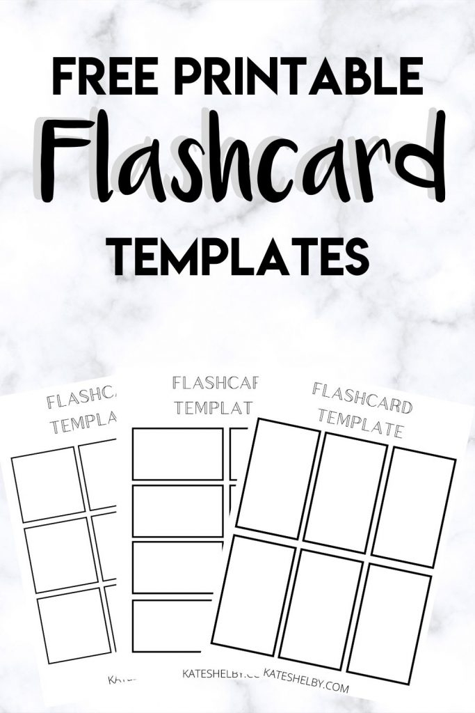 Printable Flashcard Template - Kate Shelby In Free Printable Flash Cards Template With Free Printable Flash Cards Template