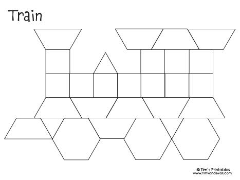 Printable Pattern Blocks for Kids - Tim