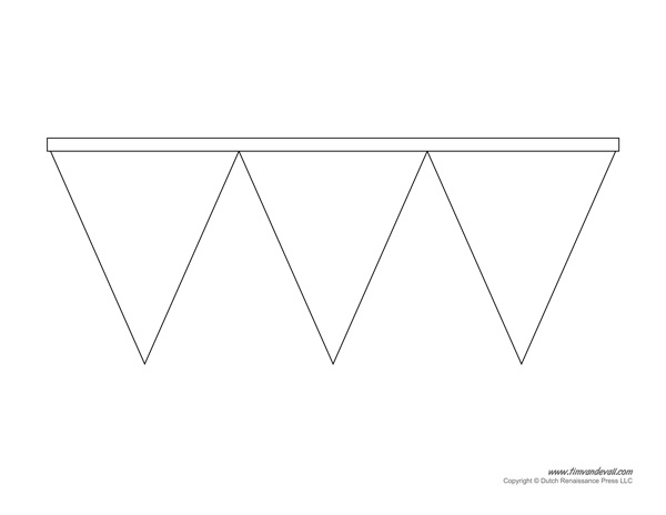 Printable Pennant Banner Template & Triangle Banner Templates With Triangle Pennant Banner Template Throughout Triangle Pennant Banner Template