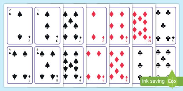 Printable Playing Cards For Free Printable Playing Cards Template In Free Printable Playing Cards Template