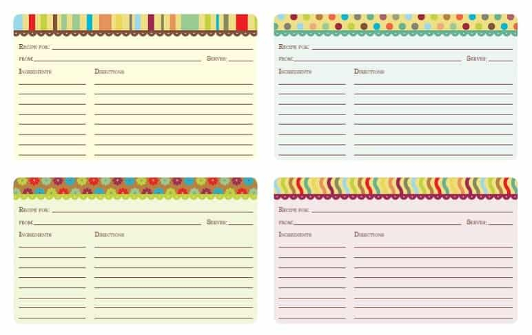 Printable Recipe Card Template Regarding Fillable Recipe Card Template Throughout Fillable Recipe Card Template