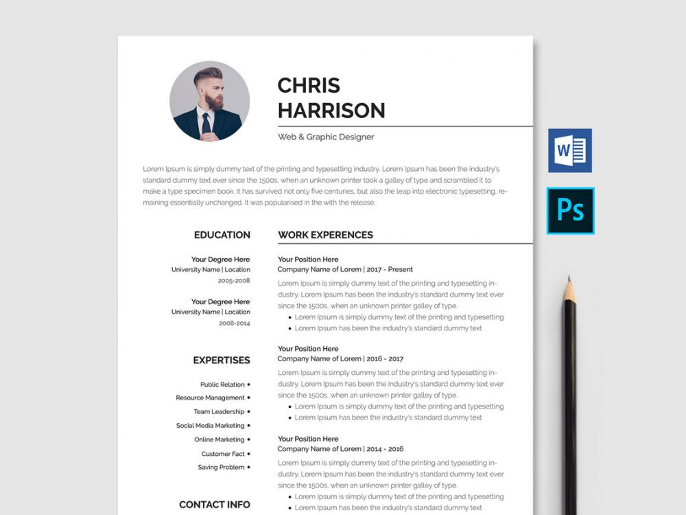 Professional Resume Template Free Download [Word & PSD] - ResumeKraft For Free Basic Resume Templates Microsoft Word Intended For Free Basic Resume Templates Microsoft Word