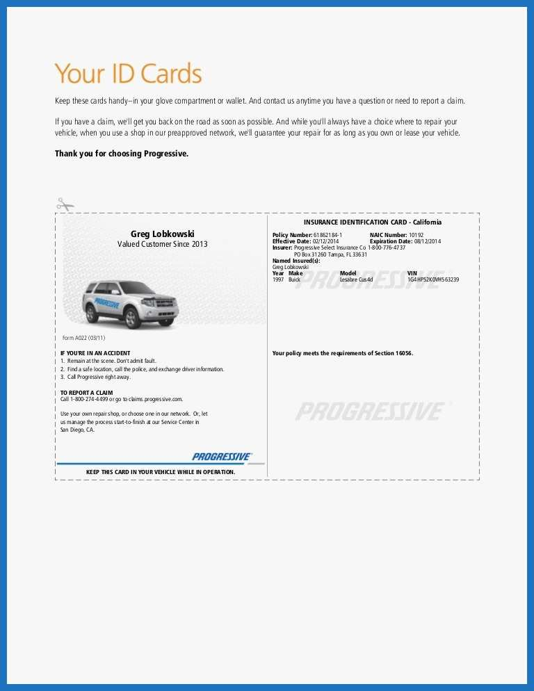 Progressive Auto Insurance Quote Phone Number Throughout Free Fake Auto Insurance Card Template With Regard To Free Fake Auto Insurance Card Template