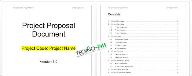 Project Proposal Template Word Template  Project Management Templates In Software Project Proposal Template Word Pertaining To Software Project Proposal Template Word