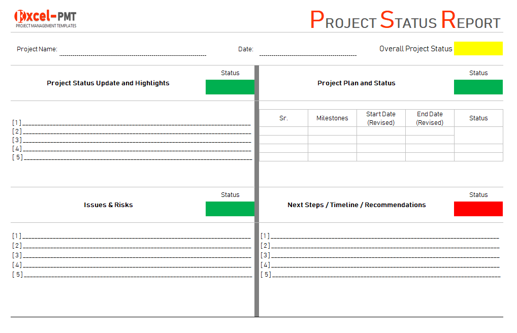 Project Status Report Examples  Template  Free Excel Dashboard  Regarding Project Status Report Dashboard Template Pertaining To Project Status Report Dashboard Template