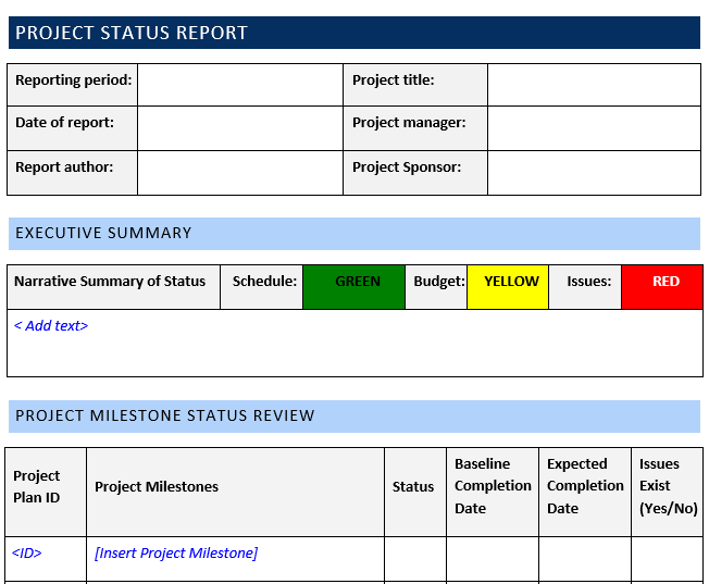 Project Status Report Template  Word Template FREE Download Throughout Executive Summary Project Status Report Template With Regard To Executive Summary Project Status Report Template
