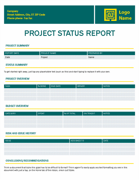 Project status report (Timeless design) Throughout Executive Summary Project Status Report Template For Executive Summary Project Status Report Template