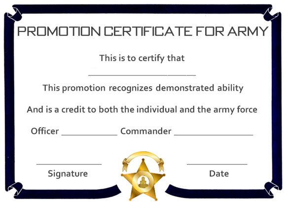 Promotion Certificate Template : 11+ Free Templates for Students  For Promotion Certificate Template Within Promotion Certificate Template
