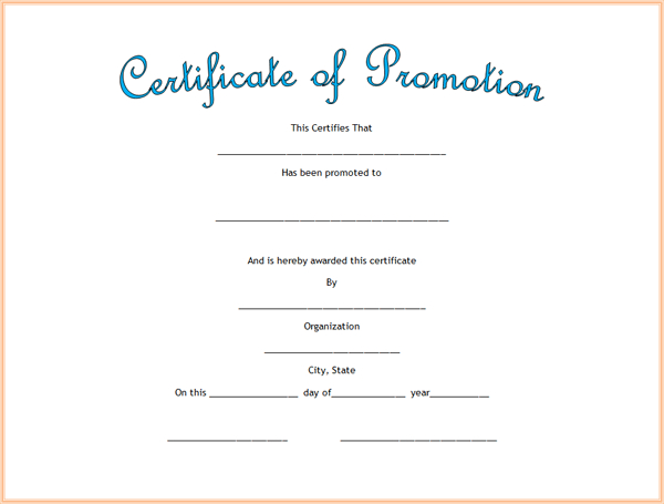 Promotion Certificate Template  IPASPHOTO Inside Promotion Certificate Template Regarding Promotion Certificate Template