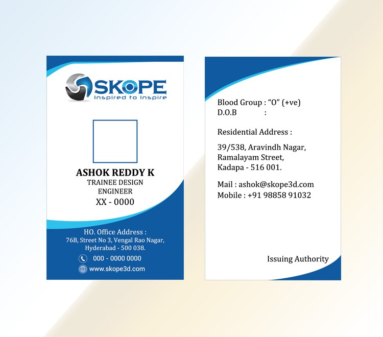 PVC Identity card ? Plastic ID card Designing & Printing Company  For Pvc Id Card Template