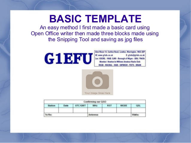 Qsl cards For Qsl Card Template Intended For Qsl Card Template
