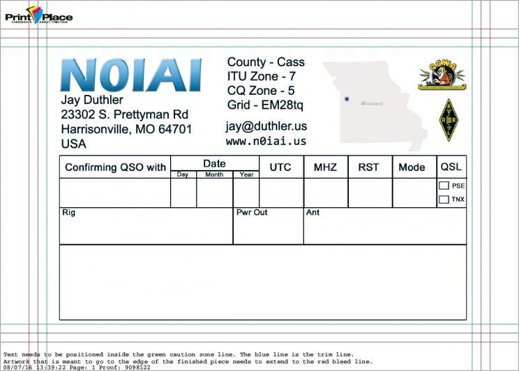 QSL Printing - morsetutor Throughout Qsl Card Template