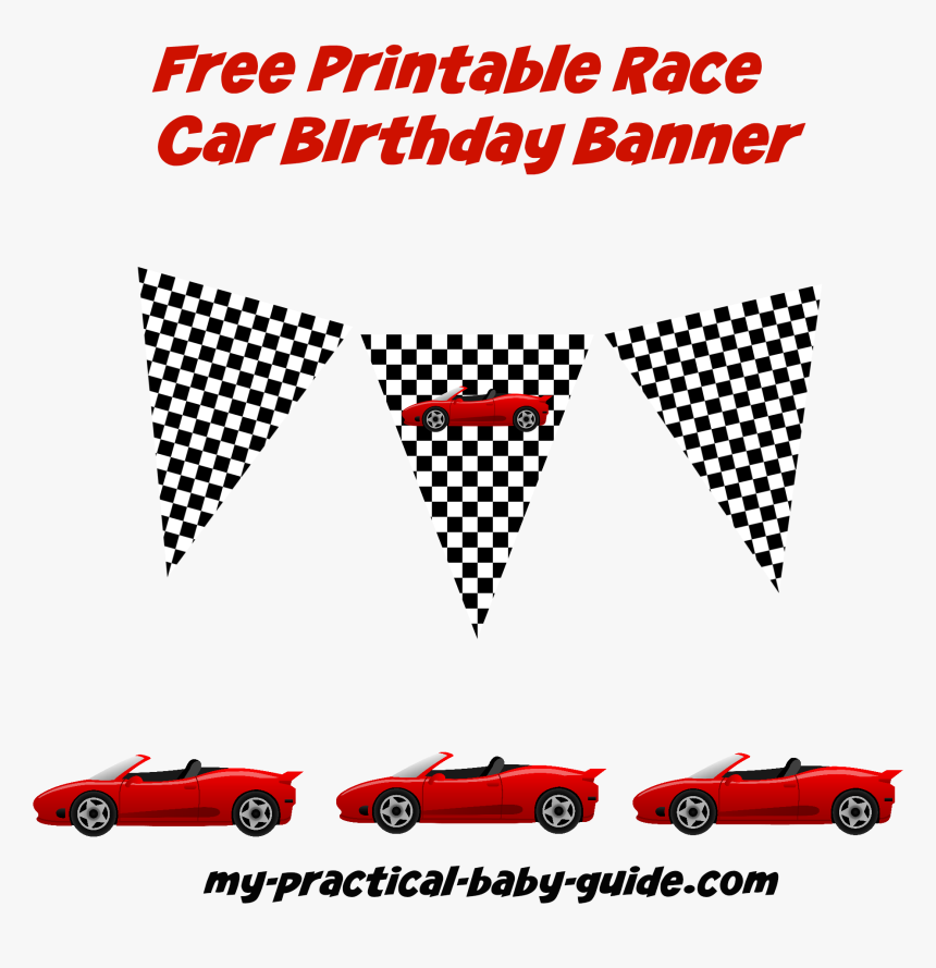 Race Car Birthday Banner Printable, HD Png Download , Transparent  In Cars Birthday Banner Template Pertaining To Cars Birthday Banner Template