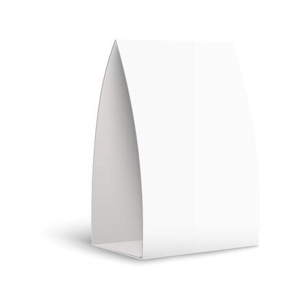 Realistic Isolated Vertical Tent Card On White Background – Paper  With Blank Tent Card Template