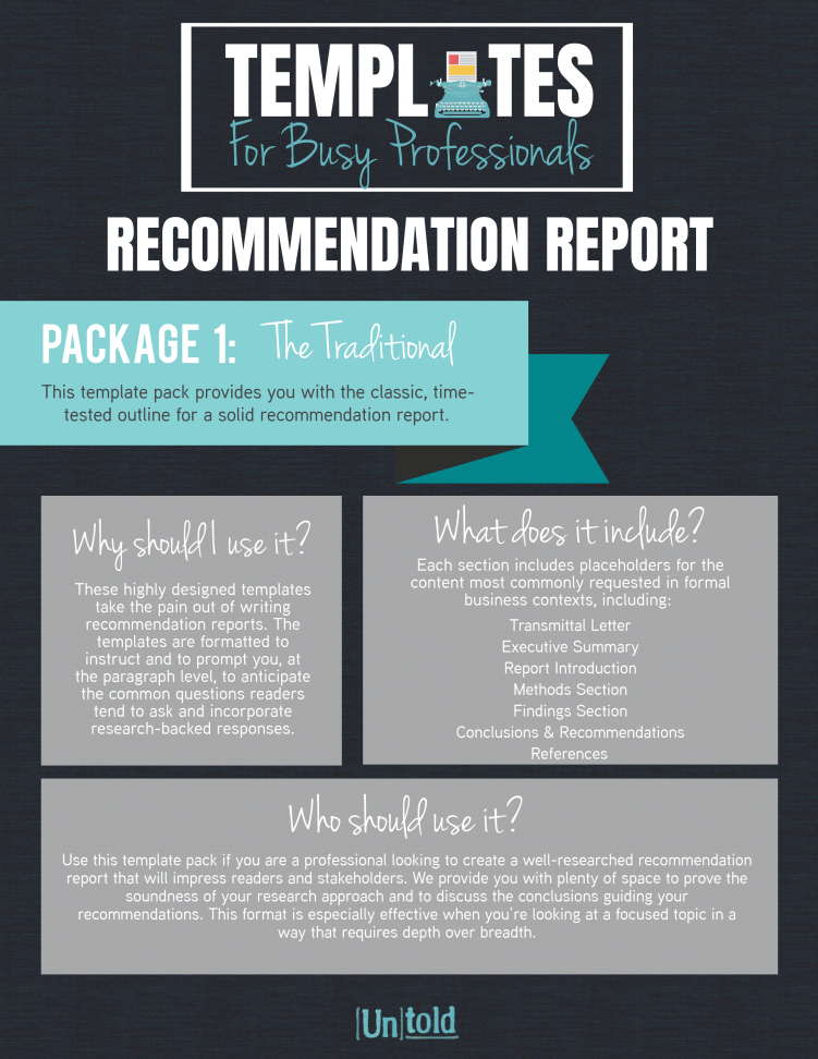 Recommendation Report Templates Inside Recommendation Report Template Throughout Recommendation Report Template