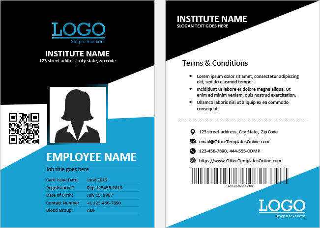 Recruitment House : [Download 11+] Teacher Id Card Template Free  Intended For Employee Card Template Word Intended For Employee Card Template Word