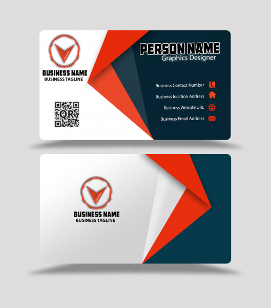 Red and black color business card design template psd Free vector  With Visiting Card Templates Psd Free Download For Visiting Card Templates Psd Free Download