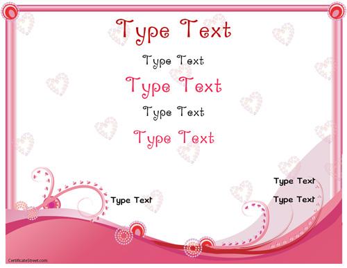Relationships Certificates - Romance Love Certificate Template  Within Love Certificate Templates With Regard To Love Certificate Templates