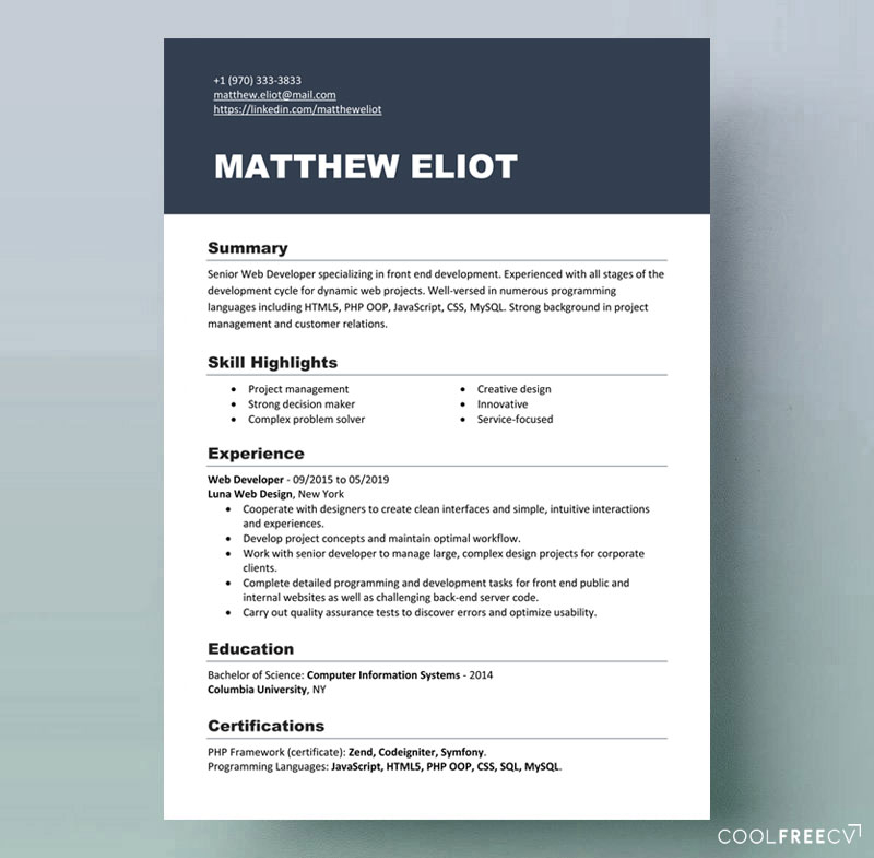 Resume templates examples free word doc For Microsoft Word Resumes Templates Intended For Microsoft Word Resumes Templates