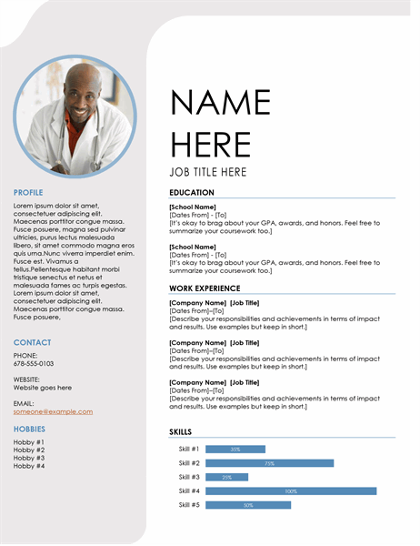 Resumes and cover letters - Office Throughout Resume Templates Word 2007