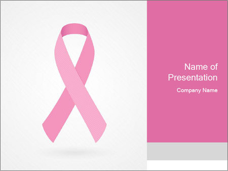 Ribbon of Breast Cancer PowerPoint Template & Infographics Slides In Breast Cancer Powerpoint Template With Regard To Breast Cancer Powerpoint Template