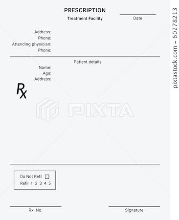 Rx pad template With Blank Prescription Pad Template