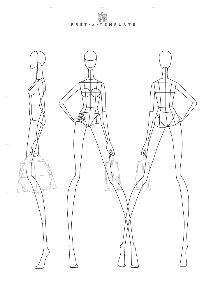 S11. EP11 Inside Blank Model Sketch Template