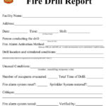 Sample evacuation drill evaluation forms filled by drill  With Emergency Drill Report Template