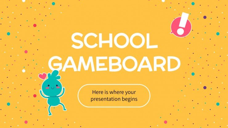 School Gameboard Google Slides theme and PPT template Pertaining To Powerpoint Template Games For Education For Powerpoint Template Games For Education