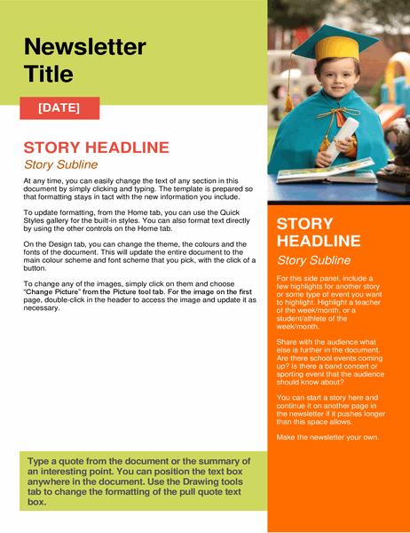 School newsletter Regarding Free School Newsletter Templates Throughout Free School Newsletter Templates