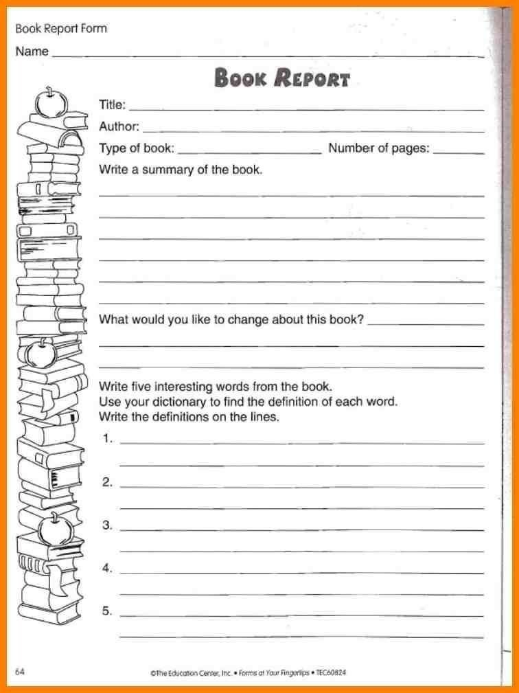 Second Book Report Sheet (Page 11) - Line.11QQ With Second Grade Book Report Template