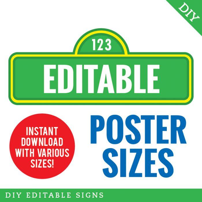 Sesame Street Birthday Printables - Including Editable Sesame  In Sesame Street Banner Template In Sesame Street Banner Template