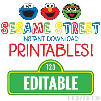 Sesame Street Birthday Printables - Including Editable Sesame  With Regard To Sesame Street Banner Template In Sesame Street Banner Template