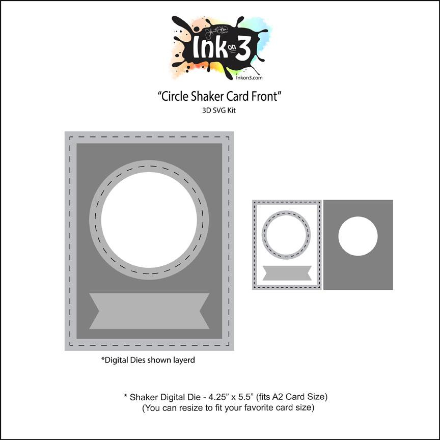 Shaker Circle Digital Die, Card Front Free SVG Kit Within Free Svg Card Templates Intended For Free Svg Card Templates