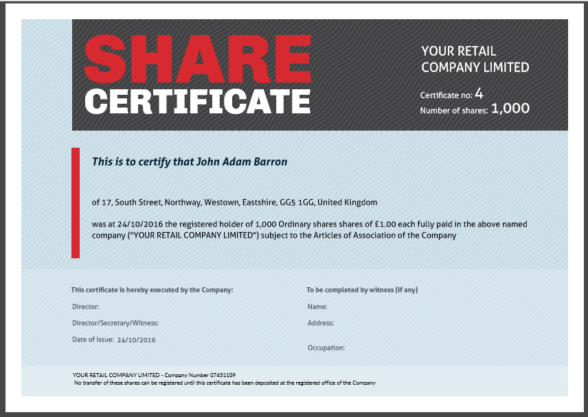 Share certificate template: what needs to be included For Share Certificate Template Companies House With Share Certificate Template Companies House