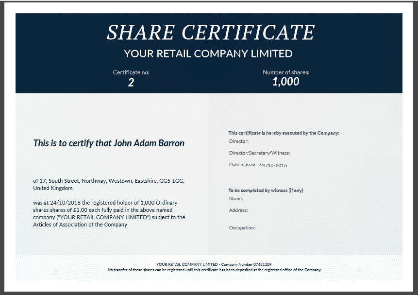 Share certificate template: what needs to be included Intended For Share Certificate Template Companies House Within Share Certificate Template Companies House