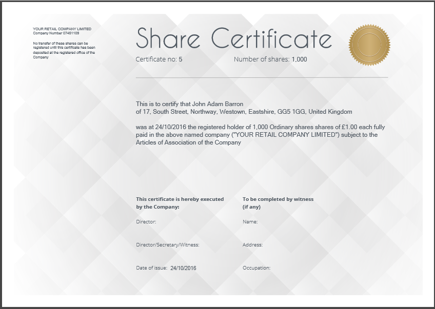 Share certificate template: what needs to be included Regarding Share Certificate Template Companies House With Share Certificate Template Companies House