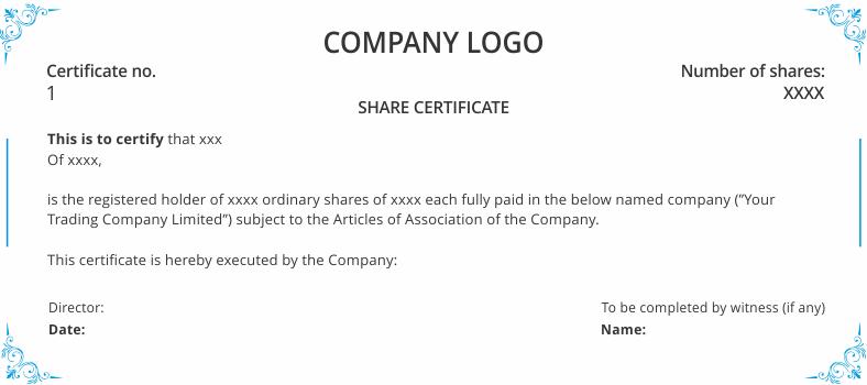 Shareholders Agreement & share certificate template uk  DNS  With Regard To Share Certificate Template Companies House Throughout Share Certificate Template Companies House