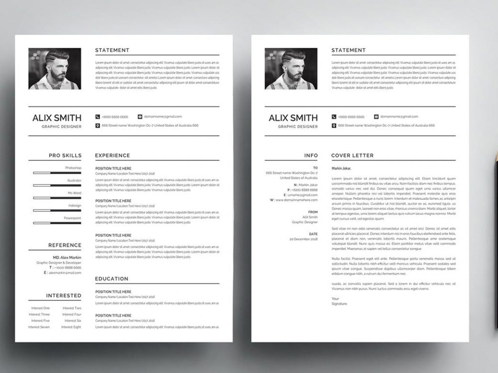 Simple Resume Template Free Download (Word & PSD) - ResumeKraft Within Free Basic Resume Templates Microsoft Word Intended For Free Basic Resume Templates Microsoft Word